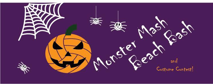 Monster Mash Beach Bash- Saturday, October 24th, 2020